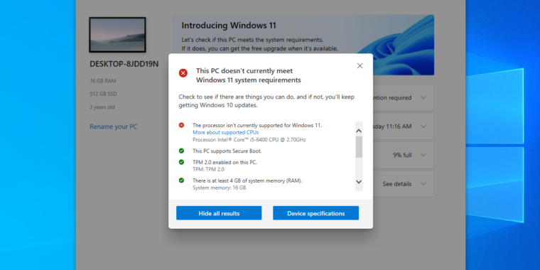 Updated PC Health Check app will actually tell you why you can't run Windows 11