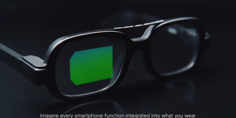 Xiaomi shows off smart glasses with an all-green, microLED, waveguide display